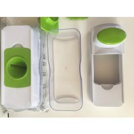 GOURMETmaxx 03695 Obst- und Gemüsehobel-Set mit Auffangbehälter, 9-teilig, Limegreen