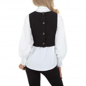 Damen Hemdbluse von SHK Paris Gr. L/40 - black