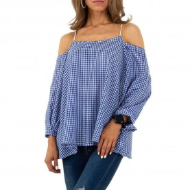 Damen Bluse von Whoo Fashion Gr. M/38 - blue