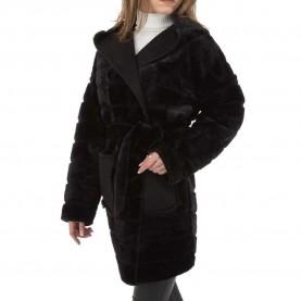 Damen Mantel von Voyelles Gr. S/36 - black